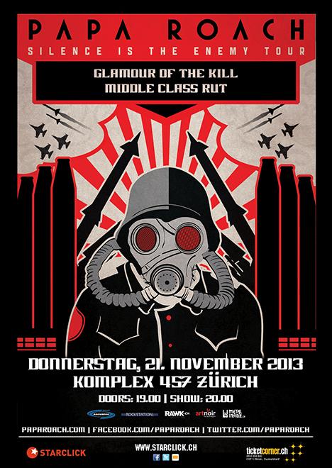 2013-11-21 Papa Roach flyer