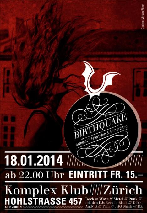 Birthquake flyer