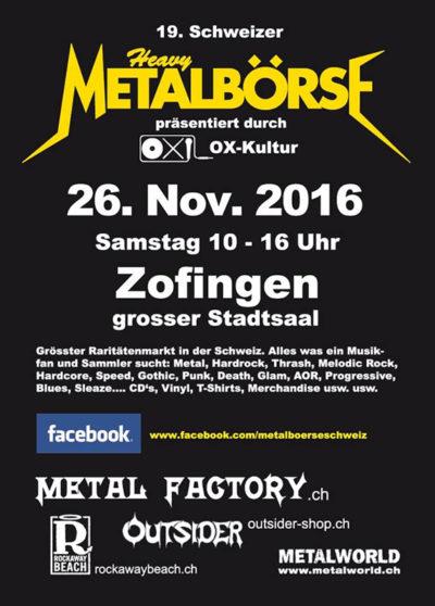 19. Schweizer Heay-Metal Börse 2016-11-26