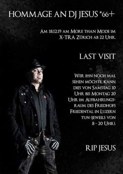 Hommage an DJ Jesus *66† @ X-TRA | Zürich | Zürich | Schweiz