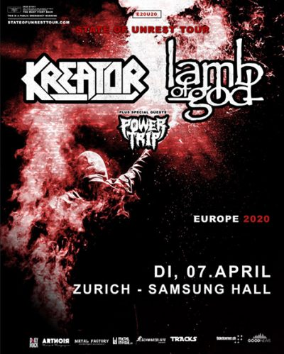 Kreator & Lamb Of God ** VERSCHOBEN – neuer Termin tba ** @ Samsung Hall
