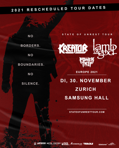 Kreator & Lamb Of God 2021-11-30