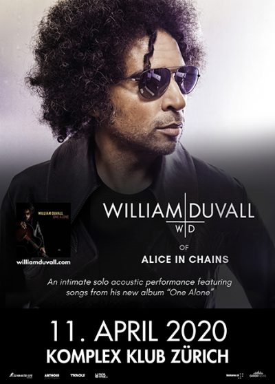 William DuVall ** VERSCHOBEN – neuer Termin tba ** @ Komplex Klub