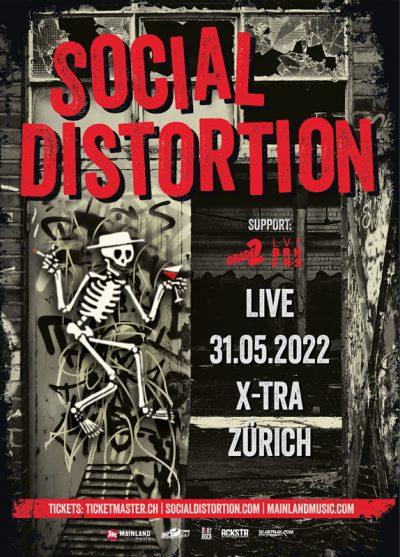 Social Distortion ** VERSCHOBEN – neuer Termin 31.05.2022 ** @ Volkshaus