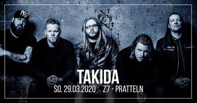 Takida ** VERSCHOBEN – neuer Termin 25.09.2020 ** @ Z7