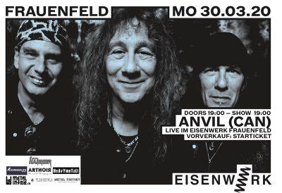 Anvil ** ABGESAGT ** @ Eisenwerk
