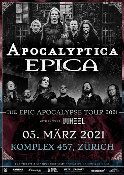 Apocalyptica & Epica ** VERSCHOBEN – neuer Termin 05.03.2021 ** @ Komplex 457
