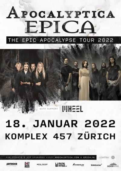 Apocalyptica & Epica ** VERSCHOBEN – neuer Termin 18.01.2022 ** @ Komplex 457