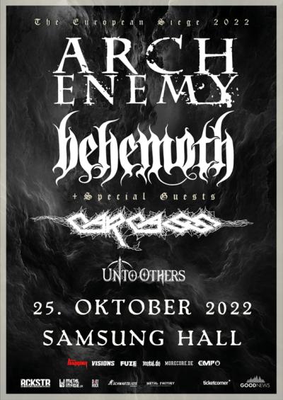 Arch Enemy & Behemoth ** VERSCHOBEN – neuer Termin 25.10.2022 ** @ Samsung Hall