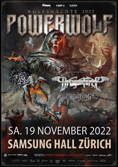 Powerwolf ** VERSCHOBEN – neuer Termin 19.11.2022 ** @ Samsung Hall